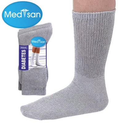 Black Diabetic Socks Men
