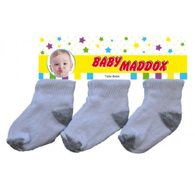 White and Grey cotton Socks