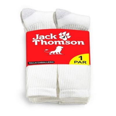 White Standard Socks Jack Thompson